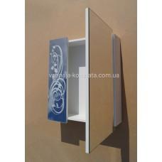 Зеркальный шкаф Миракл модель 2 с рисунком 600